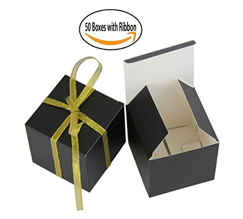 Small Gift Boxes Party Favor Box BLACK (2