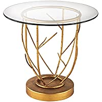 Dimond Home 1114-206 Thicket Side Table, 22 x 22 x 20, Gold Leaf