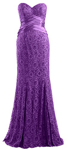 Women Formal MACloth Gown Mermaid Wedding Lace Dress Amethyst Evening Party Strapless d868rx7