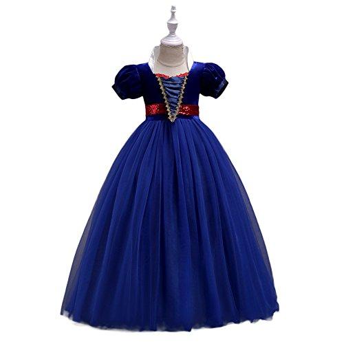 Aoile Baby Girl Stylish Tutu Princess Dress Lovely Bowknot Decoration Dress for Halloween (Dark Blue,120cm) for $<!--$18.96-->