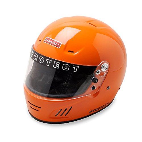 Pyrotect Pro AirFlow Full Face Auto Car Kart Marine Racing Helmet SA 2010 HANS - Orange - Large