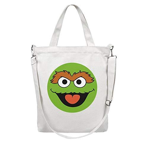 (Elmo-Face-Sesame-Street- Womenâ€s Casual Heavy Duty Walking Canvas Bag)