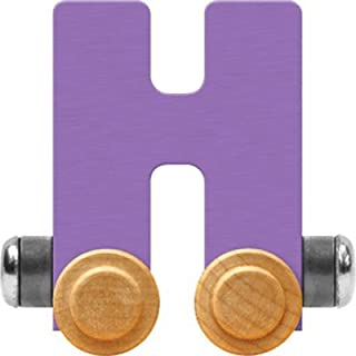 product image for Maple Landmark NameTrain Pastel Letter Car H - Made in USA (Lavender)