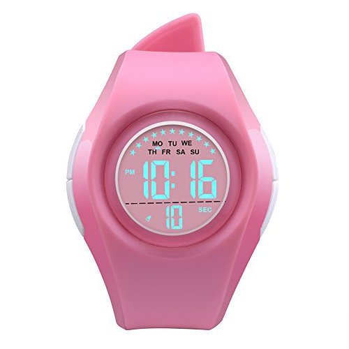 2e1c04d3094d Relojes Deportivos Digitales para niñas - XREXS Reloj de Pulsera con Reloj  Despertador EL Light