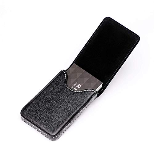 MaxGear Business Card Holder Premium PU Leather Business Card Case Wallet Men's/Women's Pocket Business Name Card Holder with Magnetic Shut for Credit Cards/ID Card/Gift Cards - Black