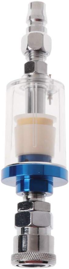 YUYUE21 1/4 Pulgadas Mini Separador de Agua de Aceite con Filtro de Aire Integrado para compresor neumático Pistola de Pintura de Aerosol Herramienta de presión Conector rápido