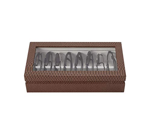 OYOBox Maxi Luxury Eyewear Organizer, Lacquered Wood Box for Glasses + Sunglasses (Chocolate ()