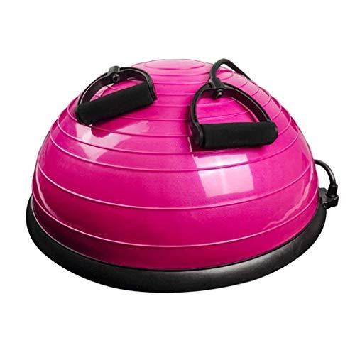 MYSportsworld Gym Thickening Explosion-Proof Wave Speed Ball Yoga Hemisphere semi-Circle Balance Ball Home Weight Loss Exercise (Pink)