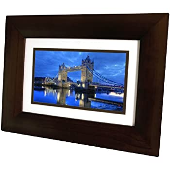 Amazon Com Hp Hp Df730p1 7 Inch Digital Picture Frame Espresso Brown Discontinued By