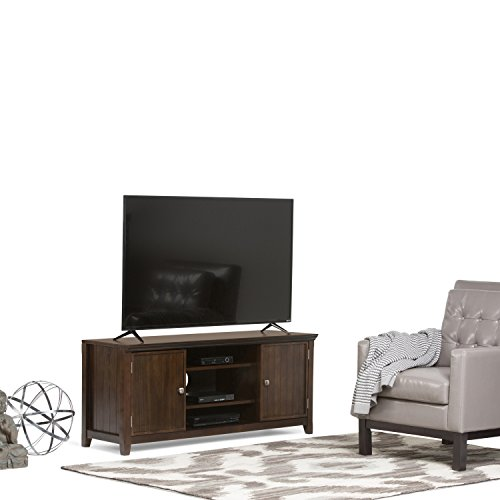 Simpli Home Acadian Solid Wood TV Media Stand for TVs up to 60'', Rich Tobacco Brown by Simpli Home (Image #1)