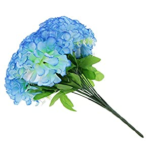 Fityle Handmade Silk Chrysanthemum Bouquet Home Decor Memorial Day Cemetery Tombstone Flower Decor 15