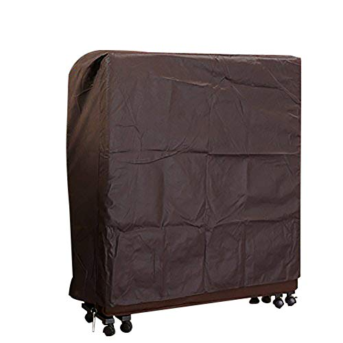 Hersent Dust Proof Non Woven Protective Cover Suit for 31.5 39 51 Inch Rollaway Bed or Foldable Bed HZC78 (L, Coffee)