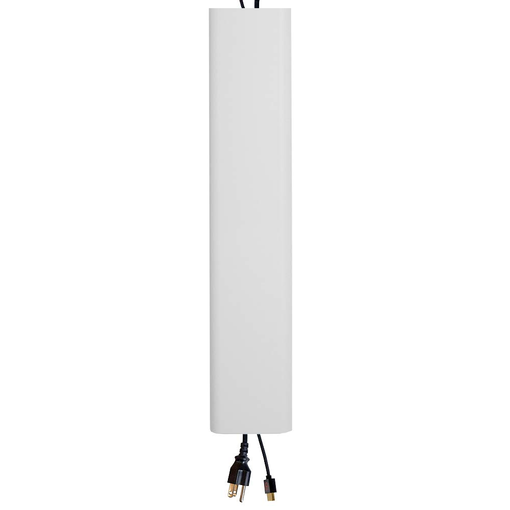 Echogear On-Wall Cable Concealer Kit Hides TV Cords - 48'' Long Cable Raceway Can Be Cut to Any Length - Installs in Minutes with A Screwdriver - Ideal for Mounting A TV