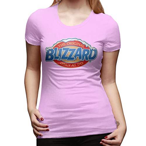 Julius Pant Logo - CSDQC Women's Customized Slim Tee Shirt DQ Dairy Queen Ice Cream Logo Parfait Milk Short Sleeve Funny Tshirt Pink M