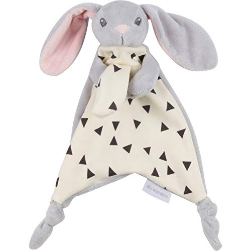 Lovey Security Snuggler Bunny Rabbit. Unisex Grey. Ideal Baby Shower, Birthday Gift for Newborns, Infants, Toddlers
