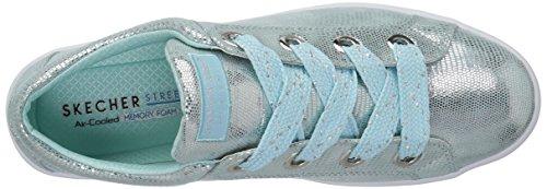 Skechers Metallic Metálico Mujer Lite Azul Lite Hi Reptile Street Women'sHi Claro Para Reptil Sw4qRS1A