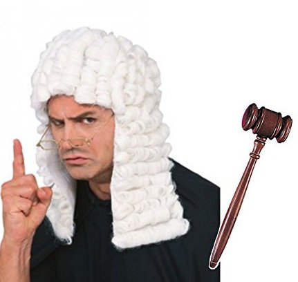 Rubie's Judge Costume Accessory Kit, Wig and Gavel