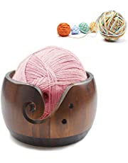 Joyeee Wooden Yarn Bowl Accessories and Supplies Large Size Gifts for Women