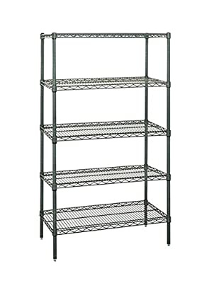"Quantum Wire Shelving 5-shelf Starter Units Storage Rack Proform 18"" x 30"" x 54"""