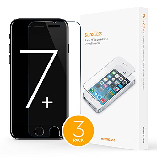 UPPERCASE DuraGlass Premium Tempered Glass Screen Protector 3 Pack (iPhone 7 Plus...