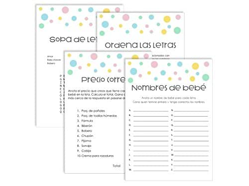 Amazon.com: Baby shower games pack in Spanish. Paquete de ...