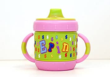 35a4e8246ff Amazon.com : Personalized Sippy Cup - Erin : Baby Drinkware : Baby