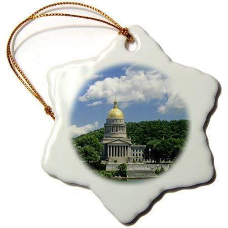 e Decoration West Virginia Charleston State Capitol Building 3 inch Ceramic Ornaments Merry Gifts ()
