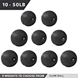 Weighted Slam Ball by Day 1 Fitness – 25 lbs - No