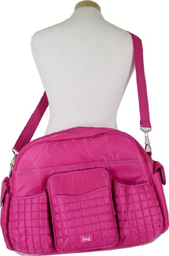 Rose Pink Lug Tuk Tuk Carry All Bag Also great as a diaper bag