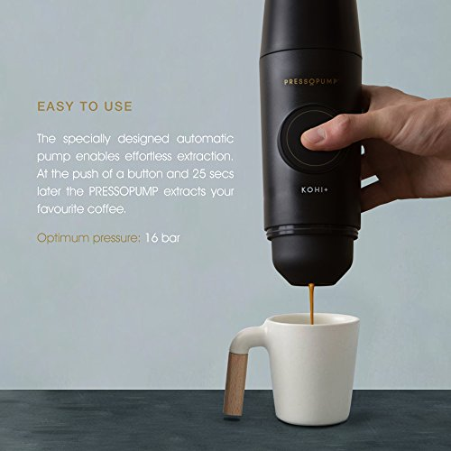 PRESSOPUMP Cordless Espresso Maker (Automatic) | Mini Espresso Coffee Machine | Perfect Gift for Home, Outdoors and Office | Black by Pressopump (Image #3)