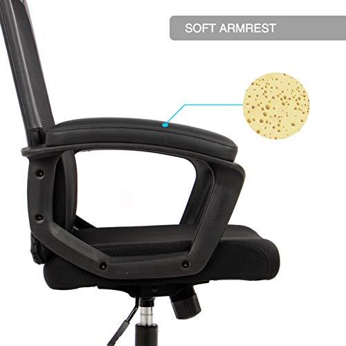 Smugdesk Ergonomic Office Chair High Back Mesh Office Chair Adjustable Headrest Computer Desk Chair for Lumbar Support