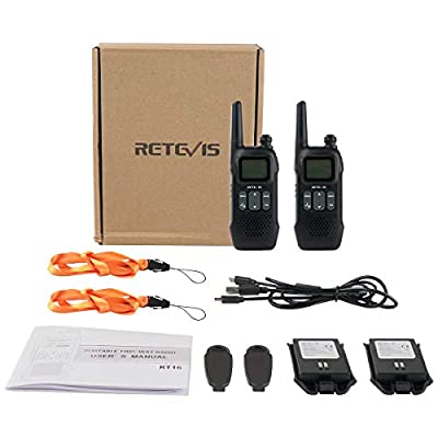 Retevis RT16 Walkie Talkie for Adults Long Range FRS VOX 22 CH FM Lock 10 Call Tone NOAA USB Charging Security Rechargeable Two Way Radio(2 Pack): Car Electronics