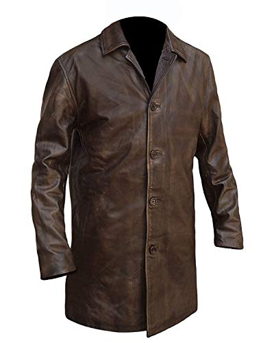 Super Natural Distressed Leather Jackets for Men - Brown Leather Jacket Men (Brown - Dean Winchester Leather Jacket, 3XL/Body Chest 48