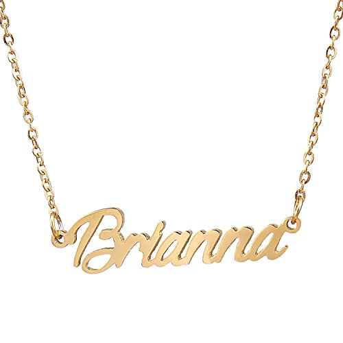 Stainless Steel Cursive Love Pendant Necklace (Gold Plated) - 2