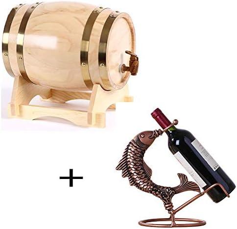 ワイン樽 オーク樽木製の樽、ホワイトオーク、家庭用のスーツを使ってワインスピリットウイスキーストレージバレル、手作り、バー、パーティー ウイスキー樽 (Color : C, Size : 10L)