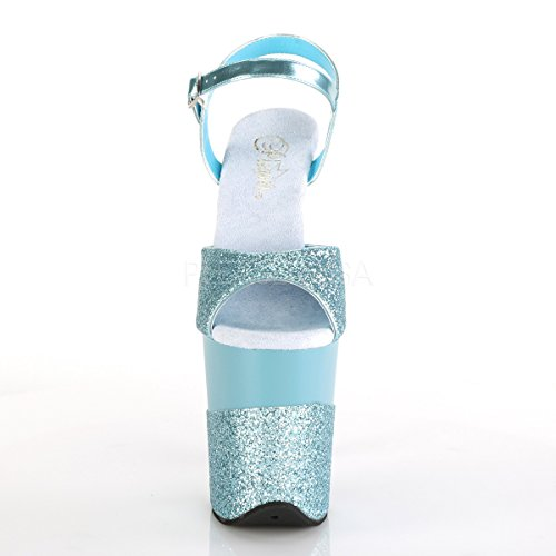 Glitter B Blue Women's Ankle Glitter Flamingo Blue Pleaser 809 2G Strap B qYxPwHA