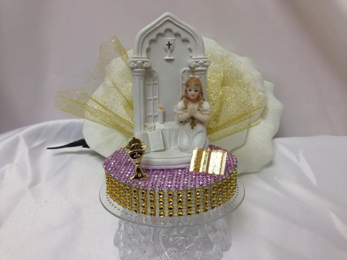 First Holy Communion Cake Topper Centerpiece Keepsake Gift (First Communion Centerpieces)