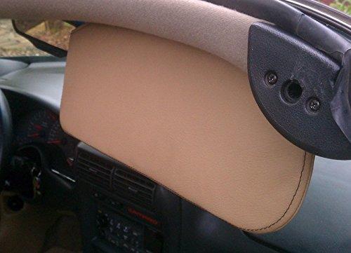 RedlineGoods Sun Visor Covers Compatible with Pontiac Firebird 1997-02. Medium Gray Leather-Black Thread by RedlineGoods (Image #6)