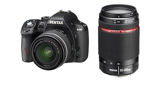 Pentax K-50 + DAL 18-55 WR + 55-300 HD WR + SD 4GB Juego de cámara ...