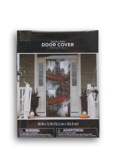 Halloween Spooky Gate ''Do Not Enter'' Door Cover - 30'' x (Make Your Own Halloween Decorations Outdoors)