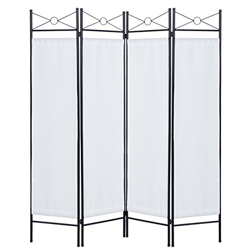 Accent Screen Dividers (Best Choice Products Home Accents 4 Panel Room Divider- White)