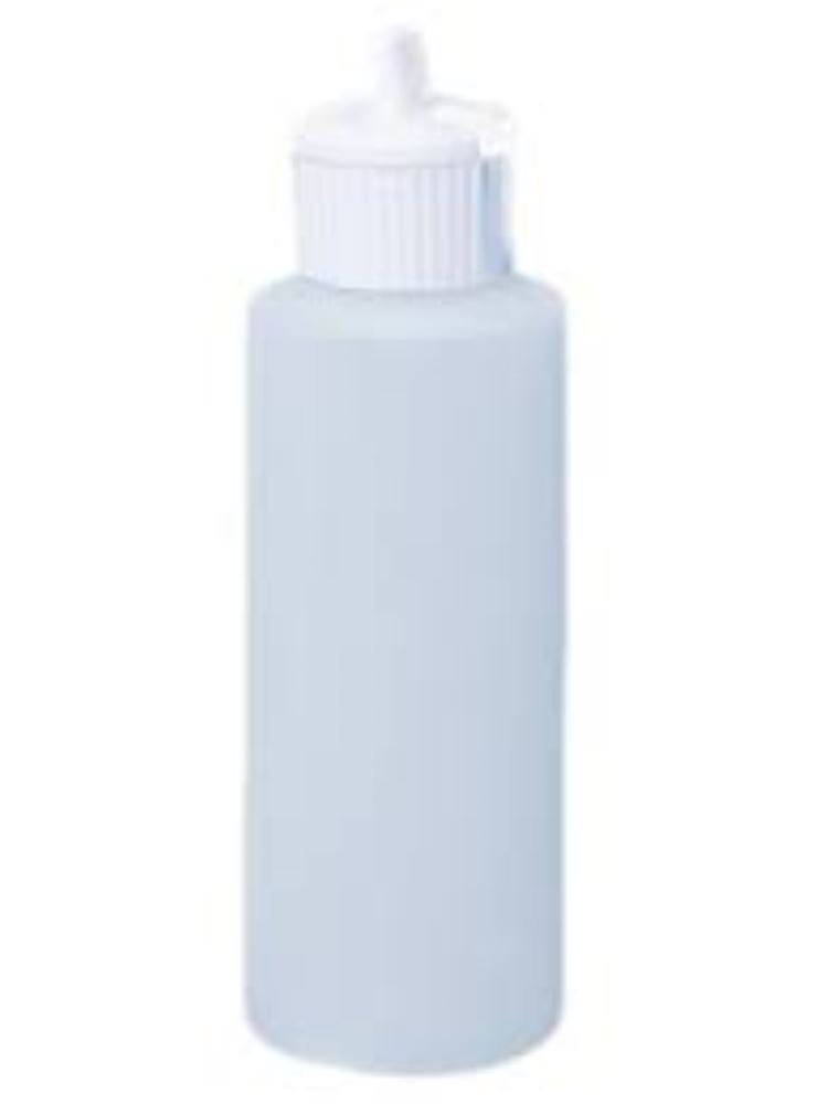 Grand Parfums 1 Oz HDPE Plastic Cylinder Bottles with Flip Top Pour Spout, Pack of 12