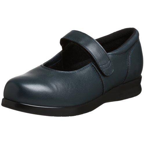 (Drew Shoe Women's Bloom II Mary Jane,Navy Calf,10 W US)