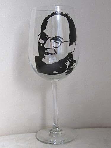 Amazon.com: Hand Painted Wine Glass - GEORGE COSTANZA