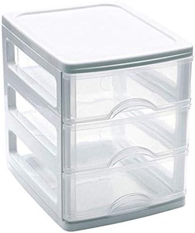 Mini Cajonera de plástico 3 cajones - Blanco 17x13,5x16,5 cm: Amazon.es: Hogar