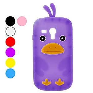 Protective Chicken Pattern Soft TPU Case for Samsung I8190 (Assorted Colors) --- COLOR:Yellow