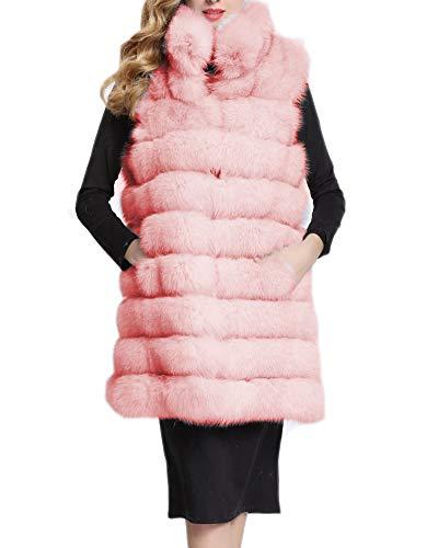 Pink Faux ' Womens Soft Folobe Chaleco Adulto Chaqueta ZfHpOnW