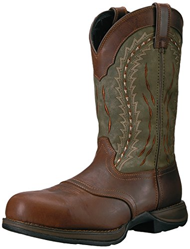 Dark Brown Forest Green - Durango Men's DDB0107 Western Boot, Dark Brown/Forest Green, 11.5 M US