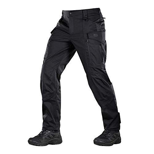 Conquistador Flex - Tactical Pants Men - with Cargo Pockets (Black, XL/L)