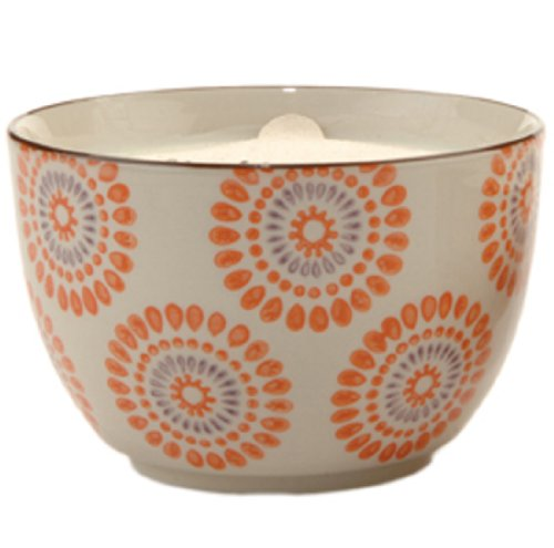 Paddywax Candles Boheme Collection Candle in Hand Painted Ceramic Bowl, 12.5-Ounce, Blood Orange and Bergamot